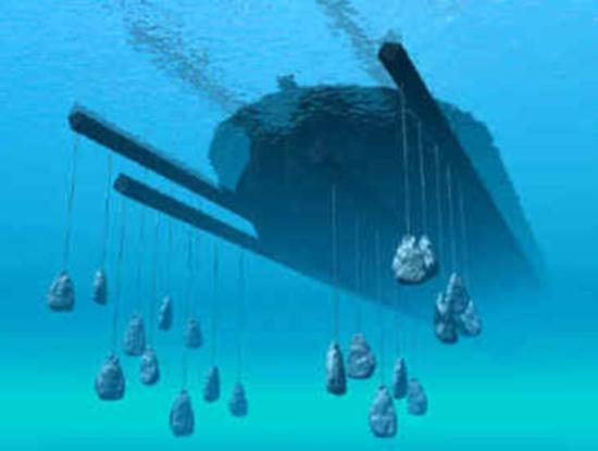 Балласт груз, помещаемый на днище судна для обеспечения требуемой посадки и...